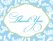 Blue Baby Frame Thank You Cards