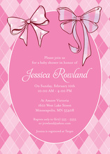 Girly Baby Pink Bows Invitation