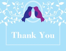 Lovely Birds Blue Thank You Cards