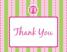 Footprint Pink Thank You Cards