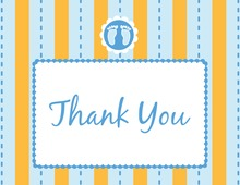 Footprint Blue Thank You Cards