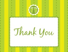 Footprint Green Thank You Cards