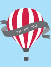 Red Hot Air Balloon Thank You Cards