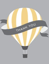 Hot Air Balloon Pastel Yellow Thank You Cards