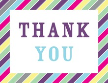 Multicolor Stripes Thank You Cards