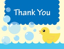 Duck Blue Bubbles Thank You Cards