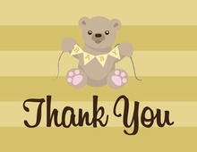 Lovely Teddy Bear Thank You Cards