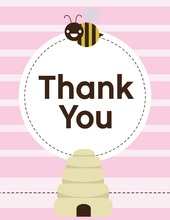 Mom-to-bee Pink Thank You Cards