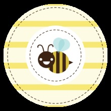 Mom-to-bee Yellow Stickers
