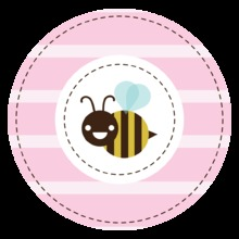 Mom-to-bee Pink Stickers