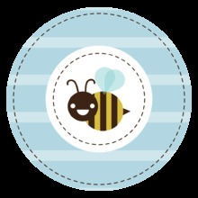 Mom-to-bee Blue Stickers