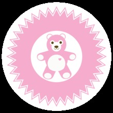 Pink Baby Elements Stickers