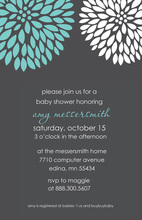 Simple Elegant Trendy Floral Fireworks Invitation