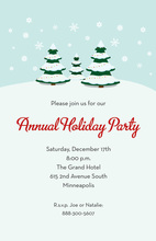 Simple Holiday Trees Invitation