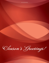 Red Holiday Folded Greeting Cards