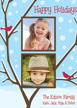Lovely Two Singing Cardinals Photo Cards