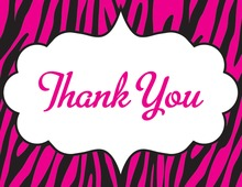 Wild Modern Pink Thank You Cards