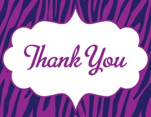 Wild Modern Purple Thank You Cards