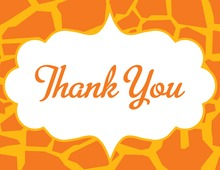 Orange Cloud Thank You Cards