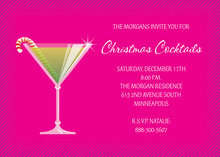 Stir Up Magenta Holiday Invitations