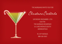 Stir Up Red Modern Holiday Invitations