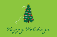 Traditional Christmas Tree Folded Greeting Cards