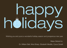 Modern Happy Holidays Invitation