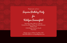 Horizontal Holiday Flourish Modern Invitations