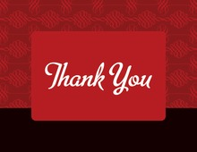 Trendy Horizontal Thank You Cards