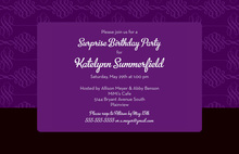 Unique Modern Spiral Deep Purple Modern Invitations