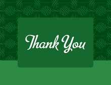 Modern Flourish Pattern Thank You Cards