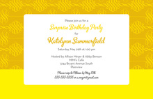 Unique Hot Yellow Spiral Stylish Casual Invitations