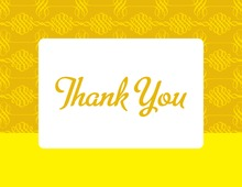 Casual Yellow Spiral Thank You Cards