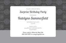 Formal Grey Unique Flourish Business Invitations