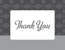 Formal Grey Pattern Thank You Cards
