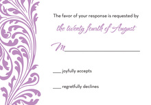 Lavender Vines RSVP Cards