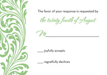 Green Vines RSVP Cards