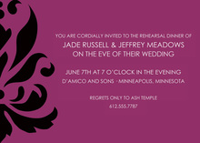 Enchanted Large Damask Pattern Formal Invitations
