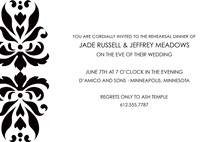 Elegant Black Reflection Formal Wedding Invitations