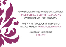 Formal Elegant Maroon Swirl Invitation