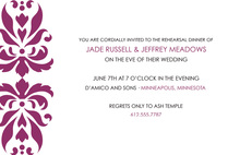 Vintage Maroon Swirl Reflection Invitations