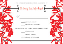 Stylish Bouquet RSVP Cards