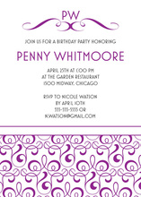 Fine Gateway Pattern Simple White Modern Invites