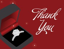 Red Engagement Box Thank You Cards