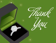 Green Engagement Box Thank You Cards