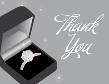 Grey Engagement Box Thank You Cards
