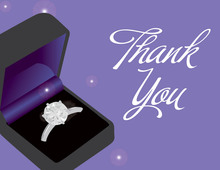 Purple Engagement Box Thank You Cards