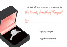 Pink Engagement Box RSVP Cards