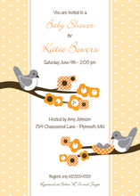 Blossom And Eggs Invitation