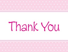 Special Pink Polka Dots Thank You Cards